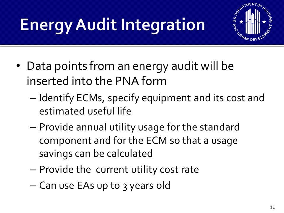 Energy Audit Integration