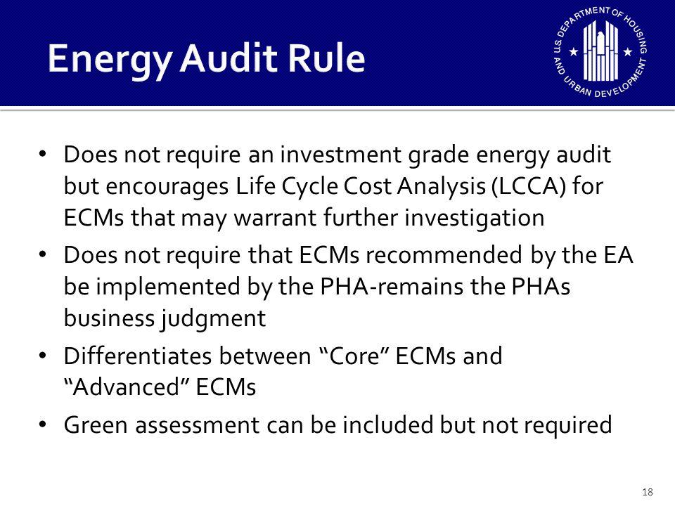 Energy Audit Rule
