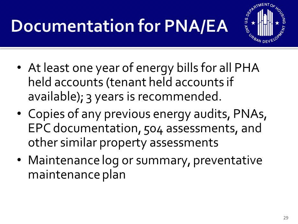 Documentation for PNA/EA