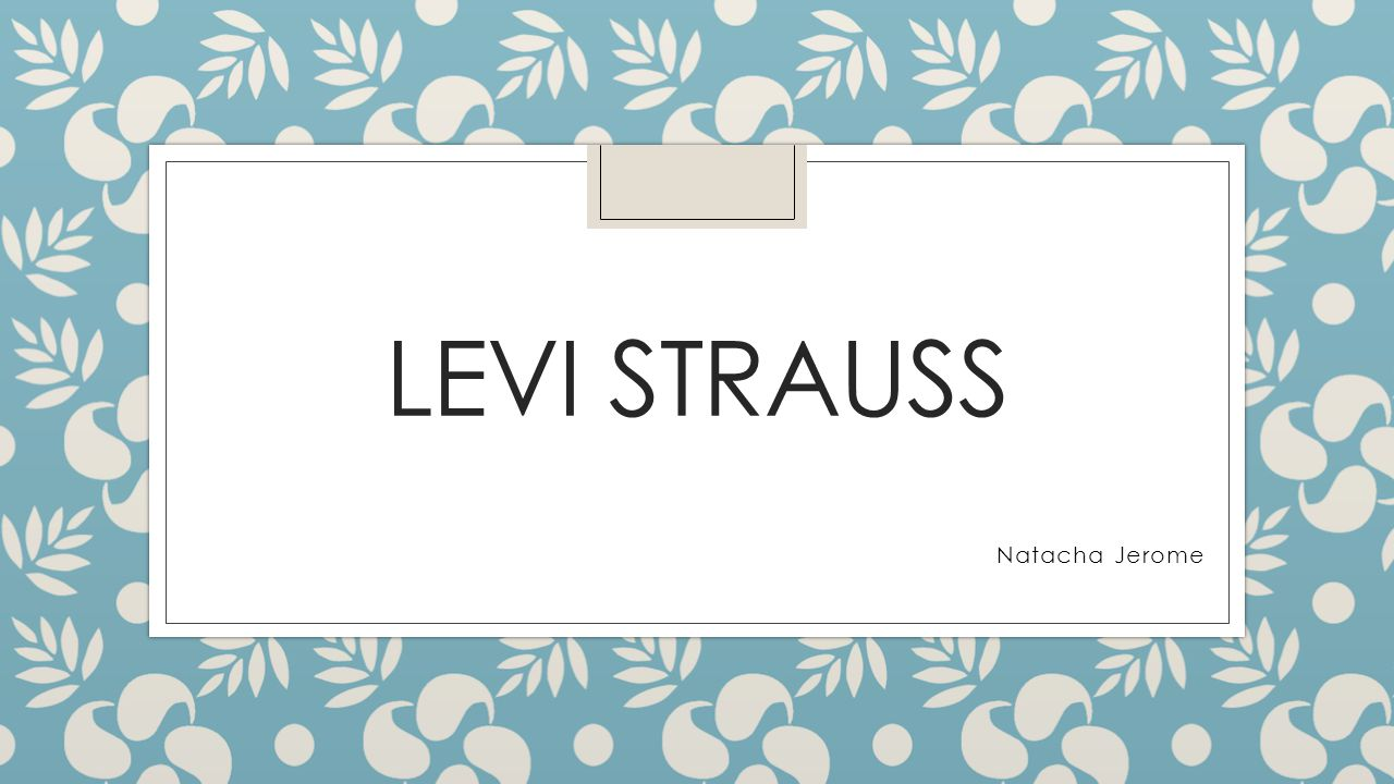 Levi Strauss Natacha Jerome