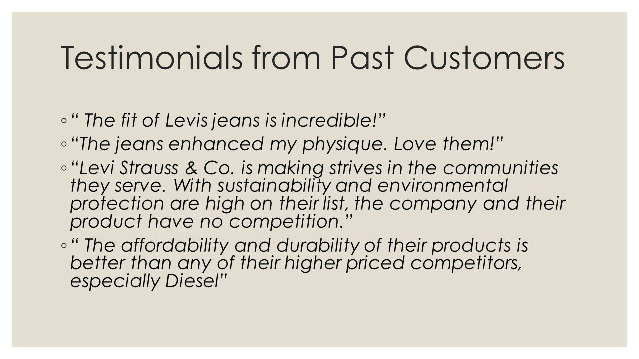 Testimonials from Past Customers