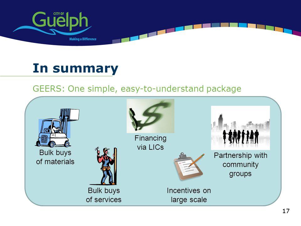 In summary GEERS: One simple, easy-to-understand package