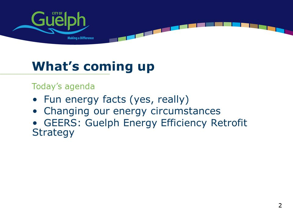 What's coming up Fun energy facts (yes, really)