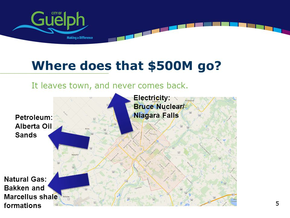 Where does that $500M go It leaves town, and never comes back.