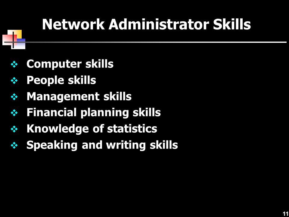 Network Administrator Skills