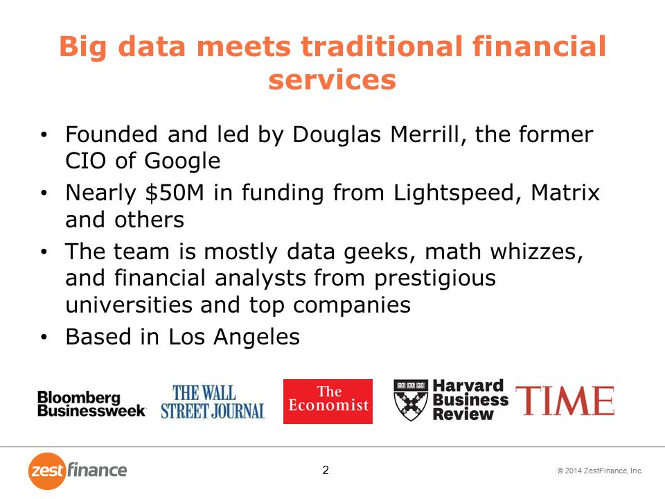 Big data meets traditional financial services