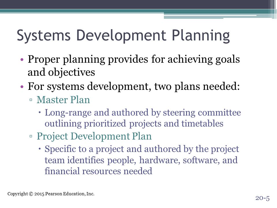 Systems Development Planning