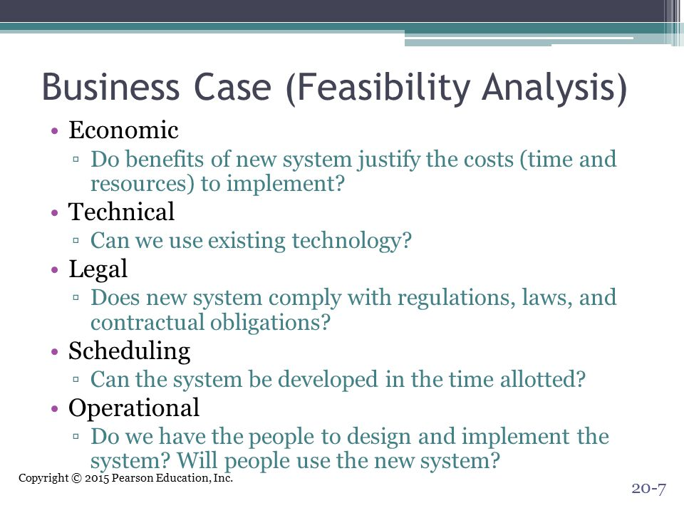 Business Case (Feasibility Analysis)