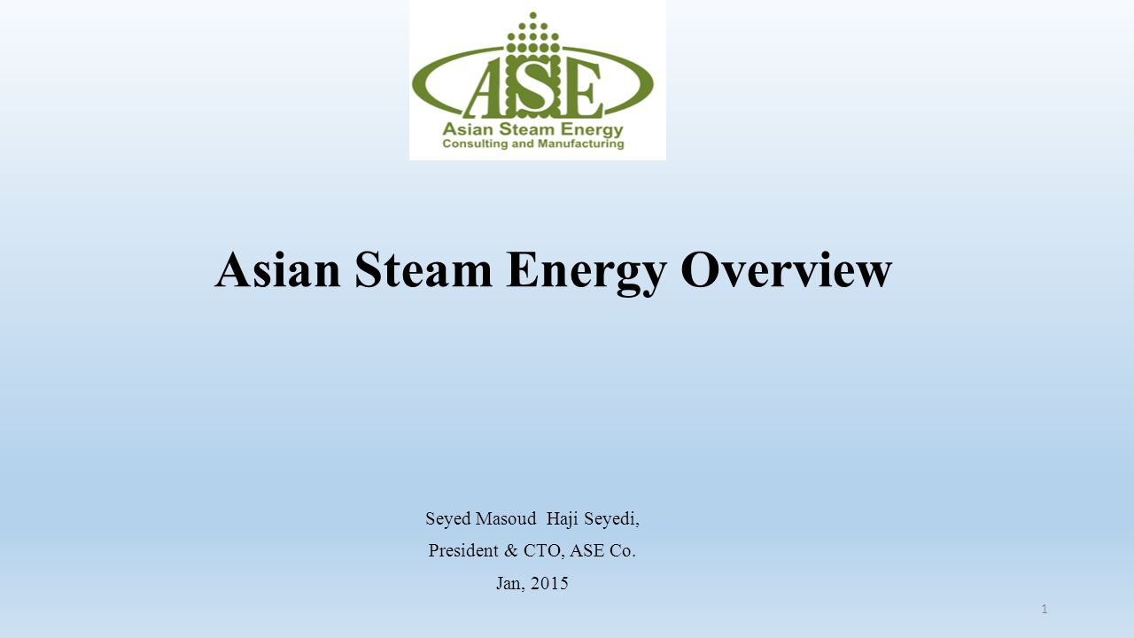 Asian Steam Energy Overview