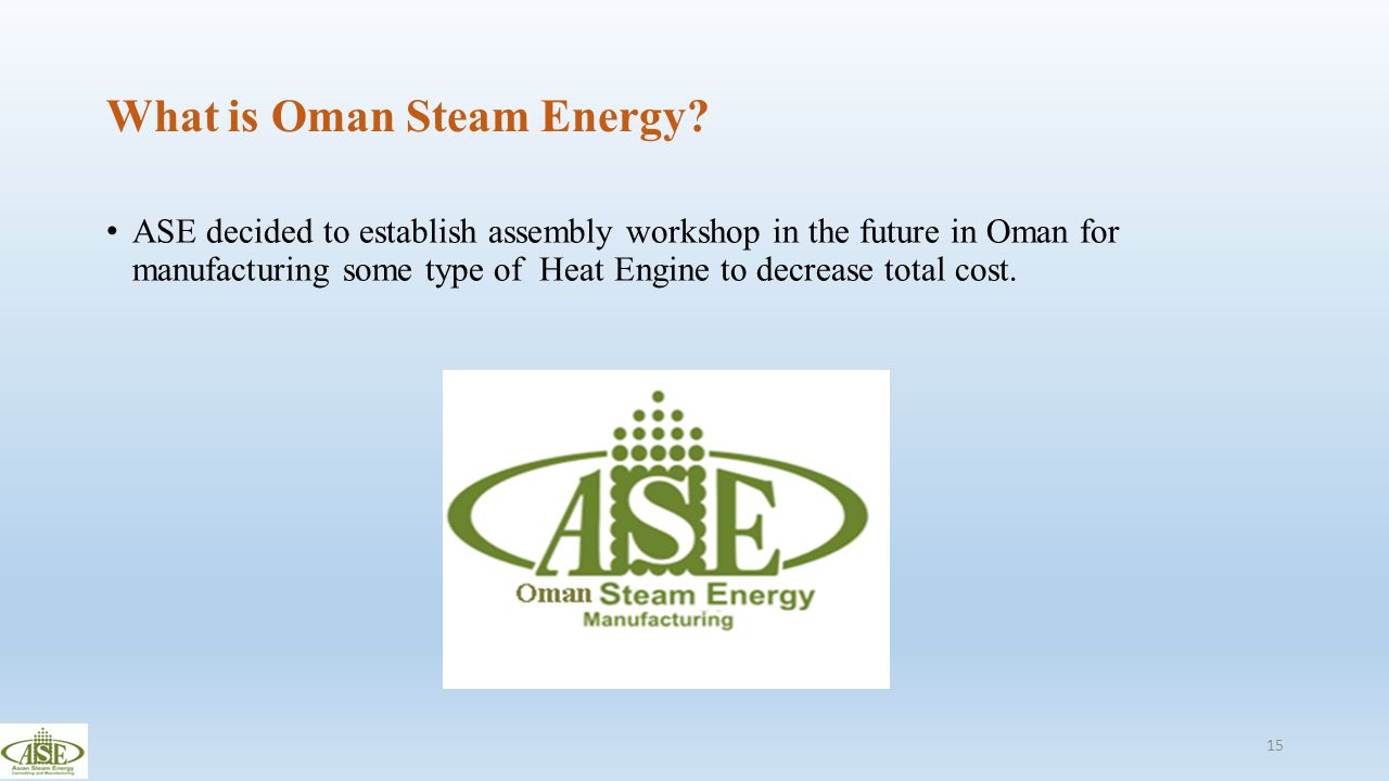 What is Oman Steam Energy