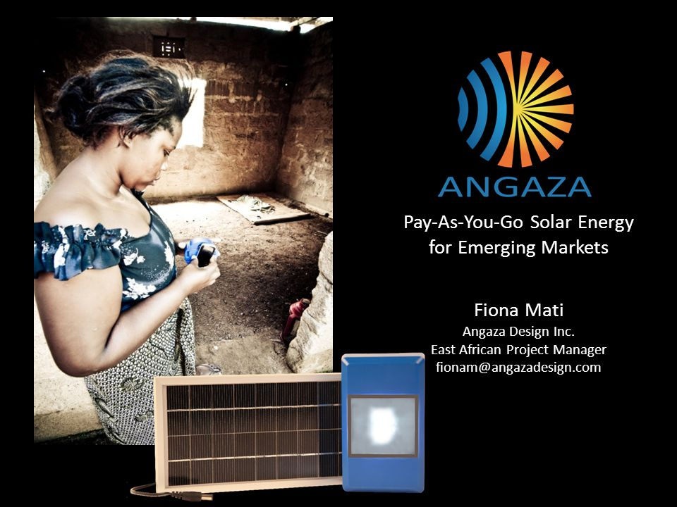 Pay-As-You-Go Solar Energy for Emerging Markets