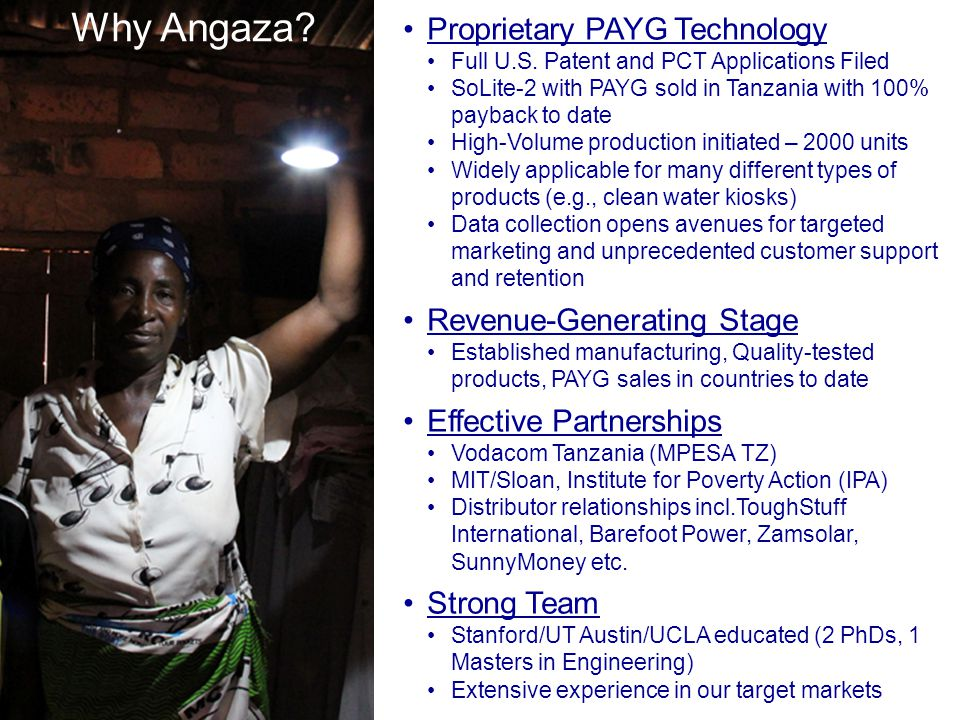 Why Angaza Proprietary PAYG Technology Revenue-Generating Stage