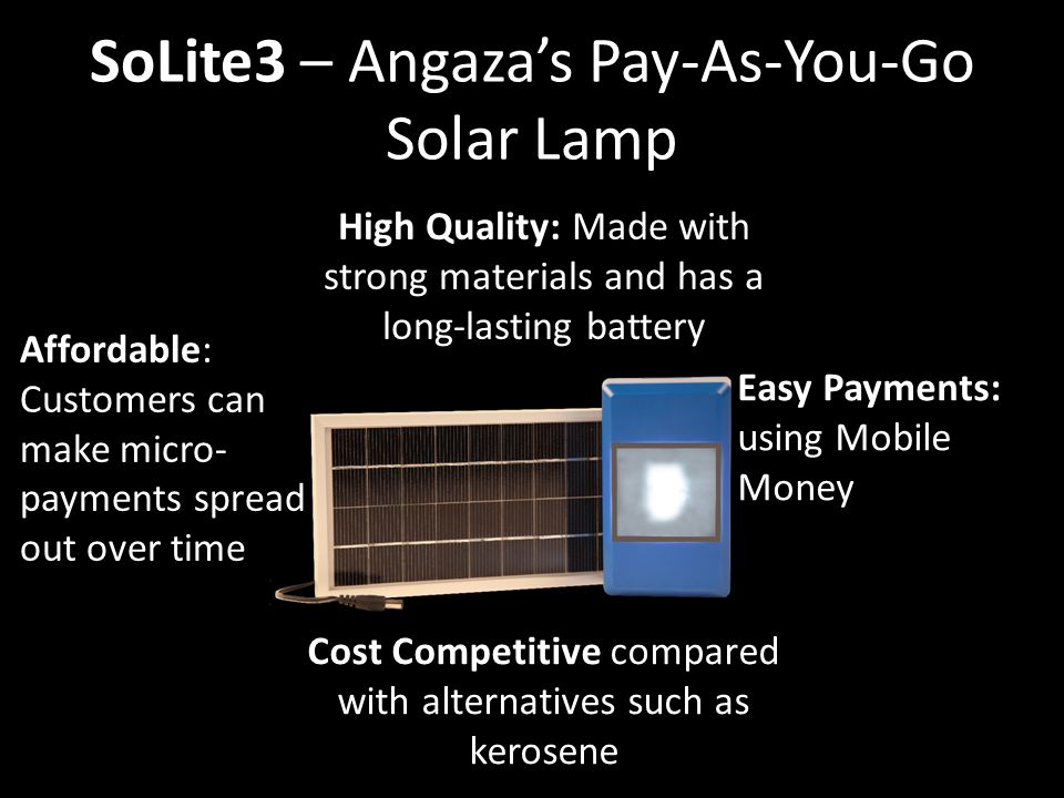 SoLite3 – Angaza's Pay-As-You-Go Solar Lamp