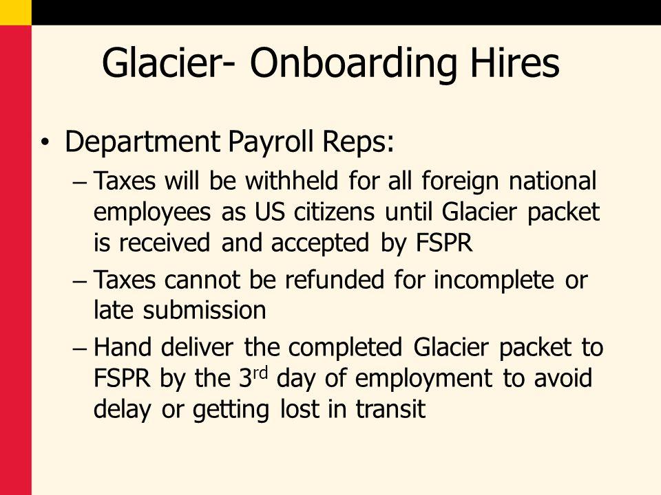 Glacier- Onboarding Hires