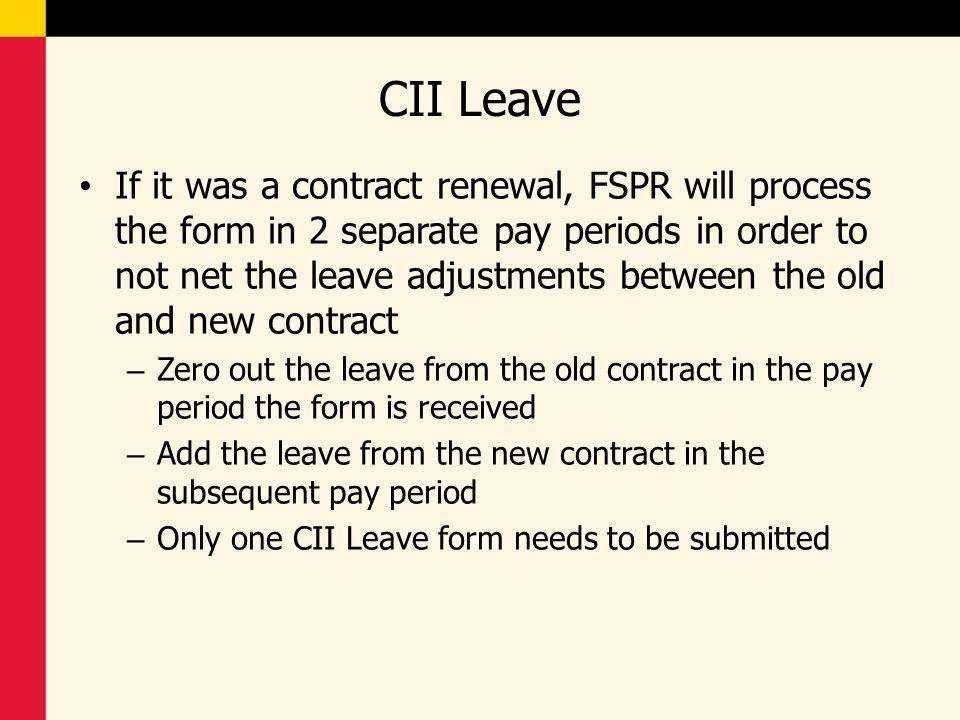 CII Leave