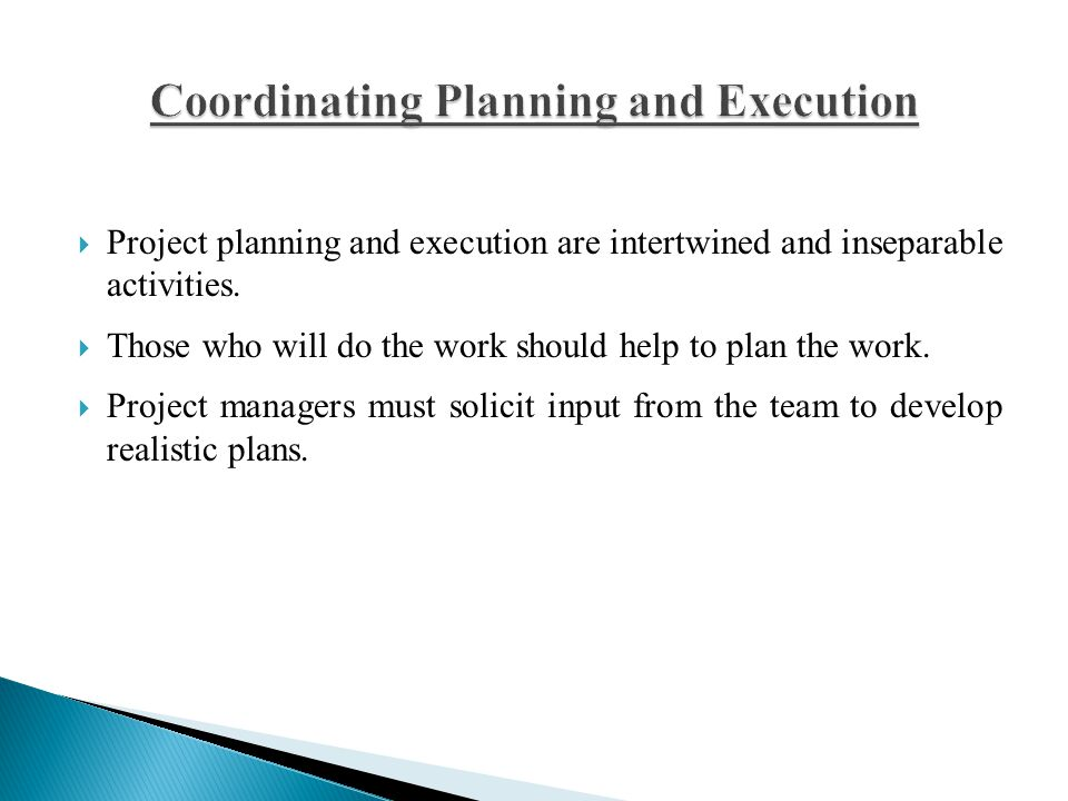 Coordinating Planning and Execution