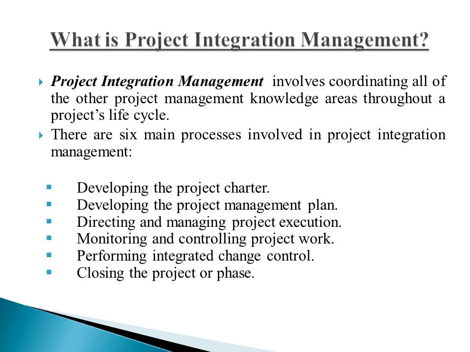 What is Project Integration Management