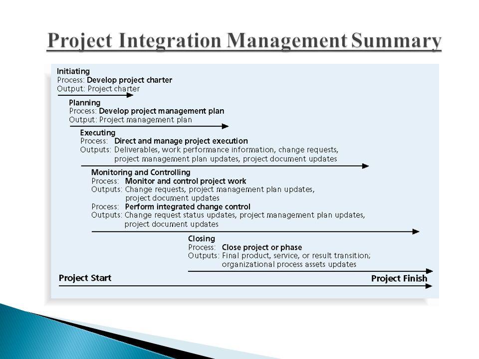 Project Integration Management Summary