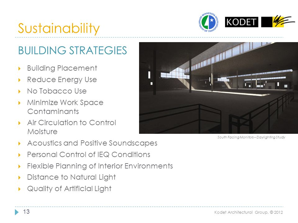 Sustainability Building Strategies Building Placement