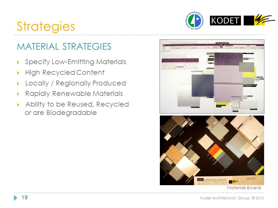 Strategies Material Strategies Specify Low-Emitting Materials