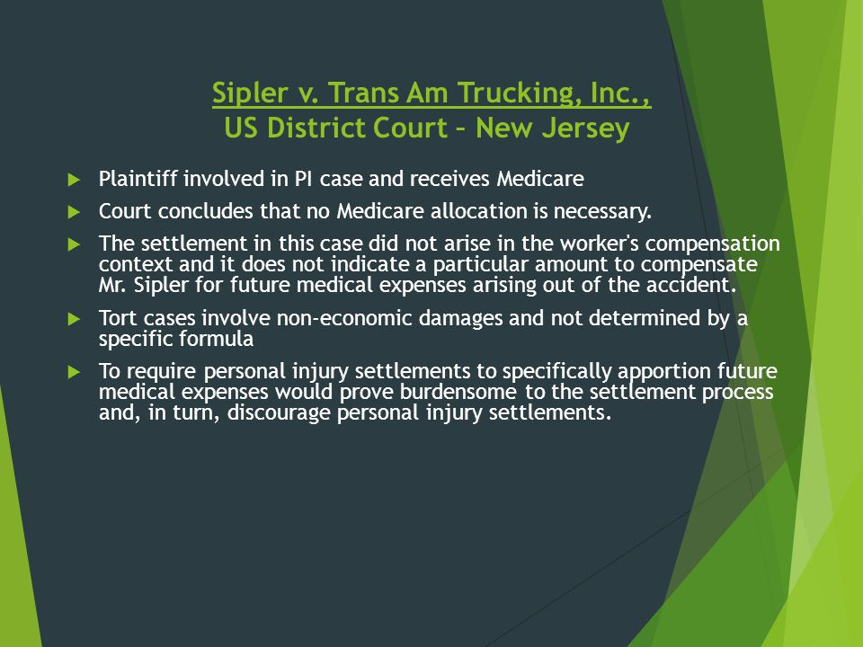 Sipler v. Trans Am Trucking, Inc., US District Court – New Jersey