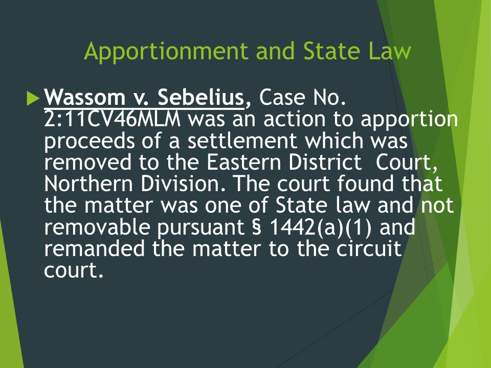 Apportionment and State Law
