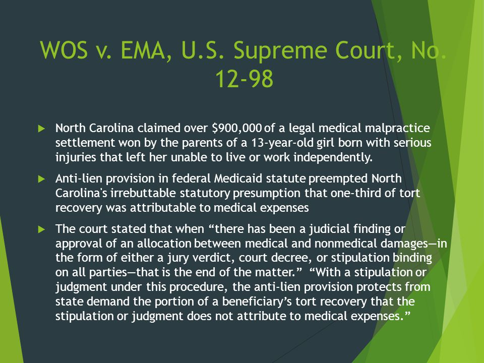 WOS v. EMA, U.S. Supreme Court, No. 12-98