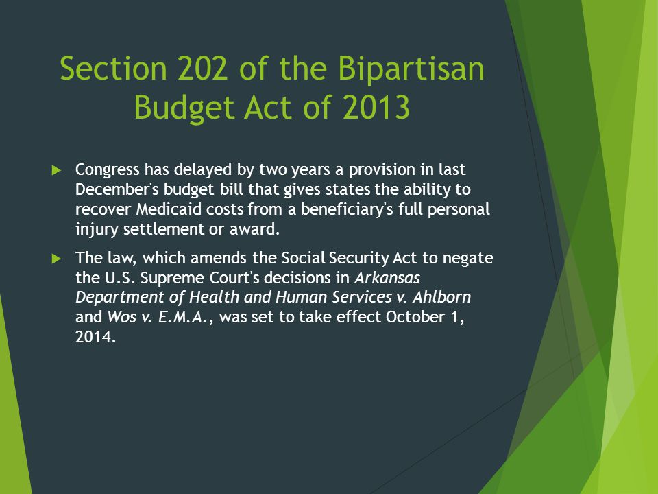 Section 202 of the Bipartisan Budget Act of 2013