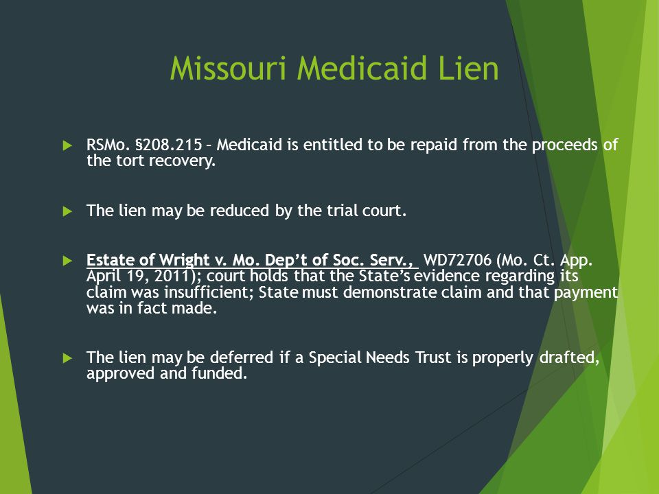 Missouri Medicaid Lien
