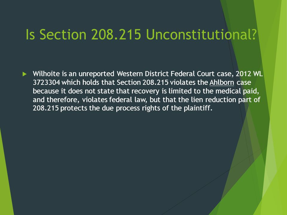 Is Section 208.215 Unconstitutional