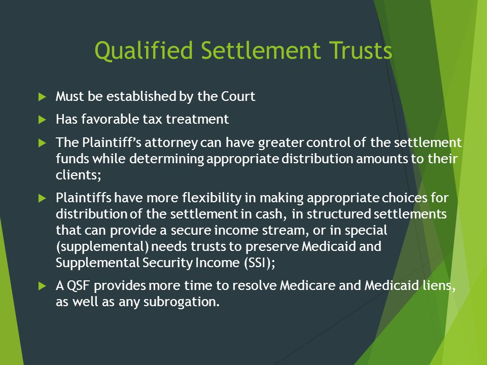 Qualified Settlement Trusts