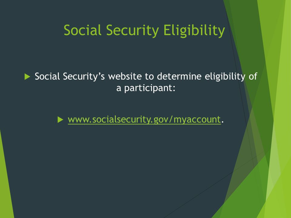 Social Security Eligibility