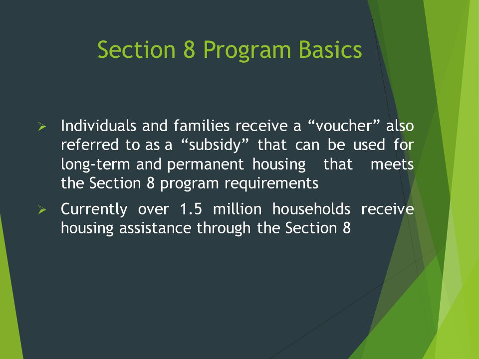 Section 8 Program Basics