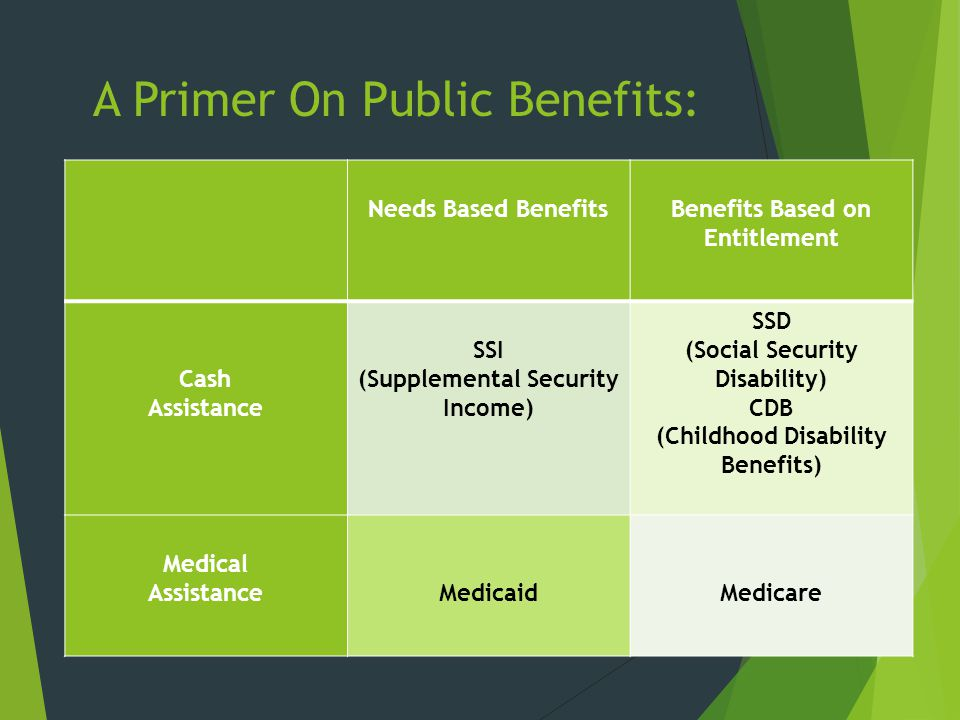 A Primer On Public Benefits: