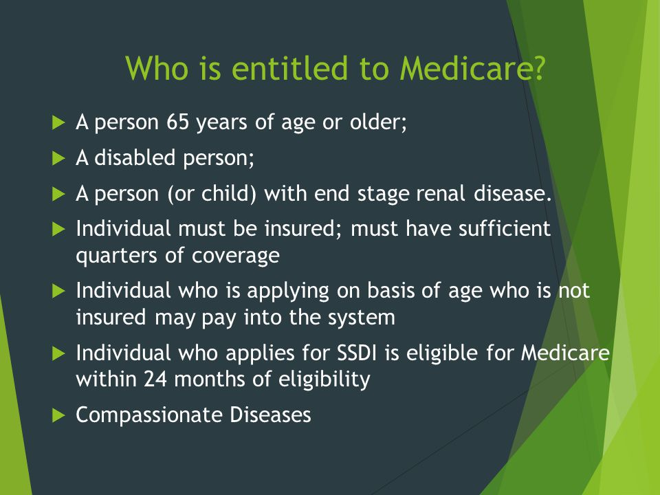 Who is entitled to Medicare