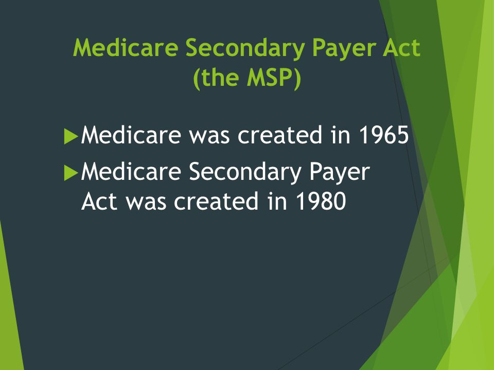 Medicare Secondary Payer Act (the MSP)