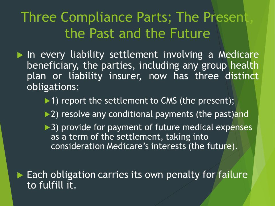 Three Compliance Parts; The Present, the Past and the Future
