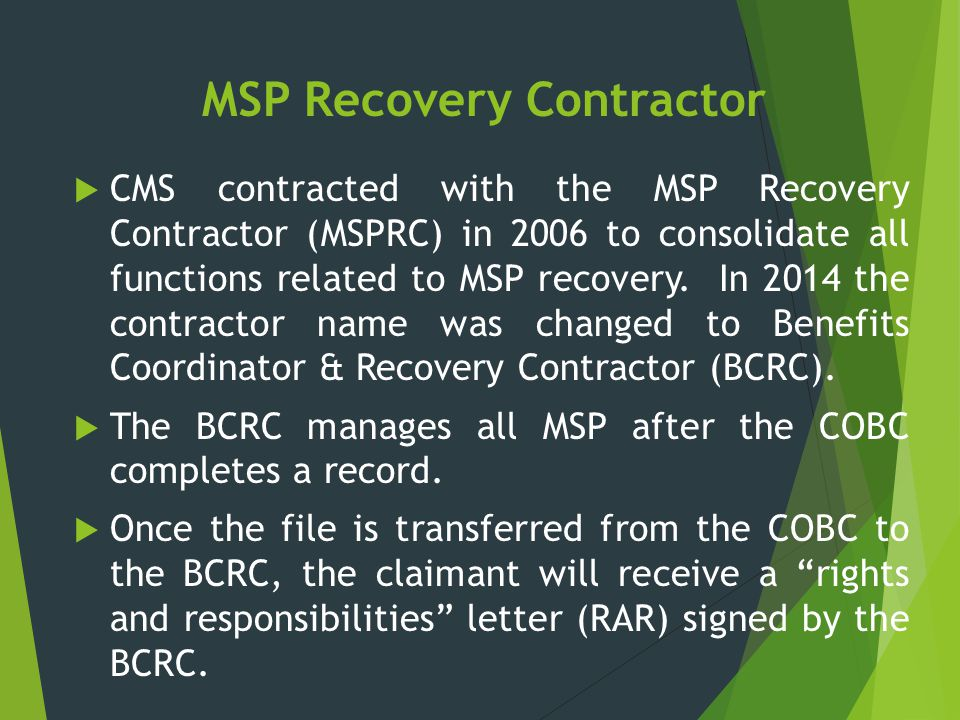 MSP Recovery Contractor