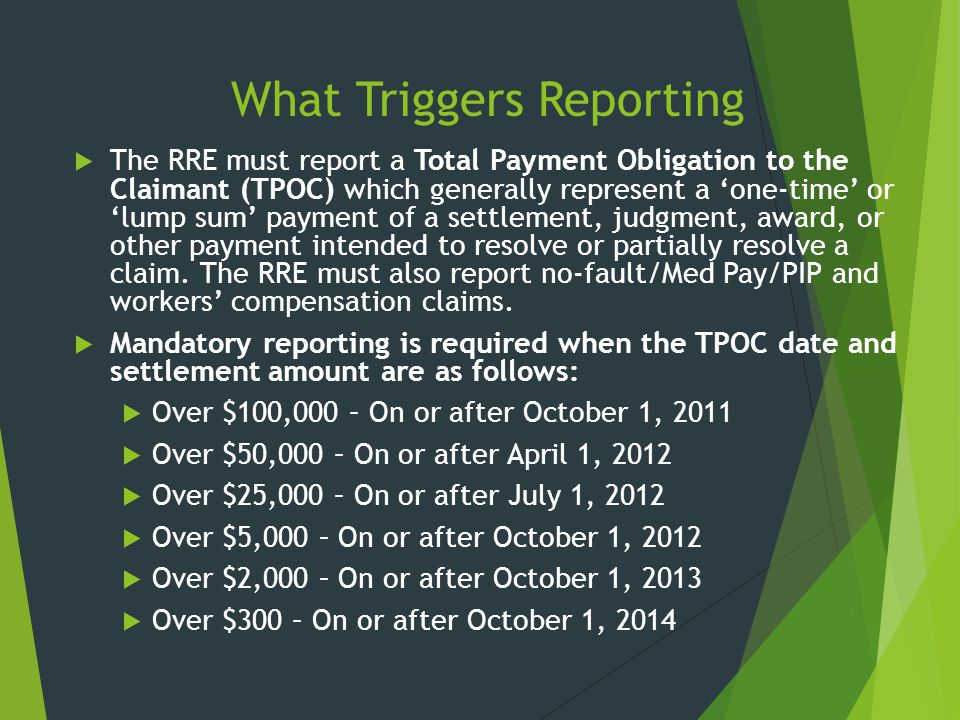 What Triggers Reporting