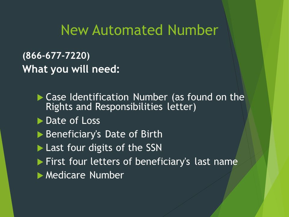 New Automated Number What you will need:
