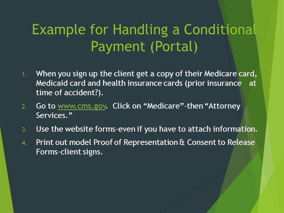 Example for Handling a Conditional Payment (Portal)