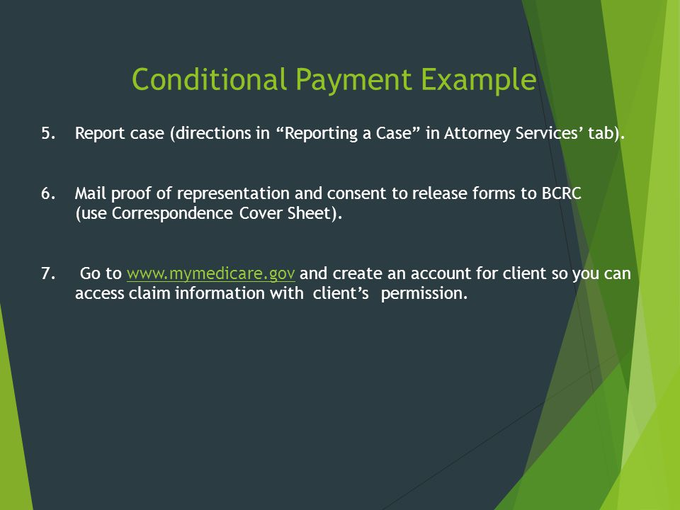 Conditional Payment Example