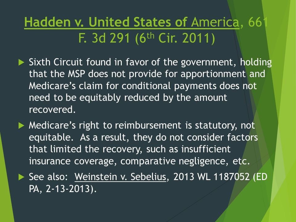 Hadden v. United States of America, 661 F. 3d 291 (6th Cir. 2011)