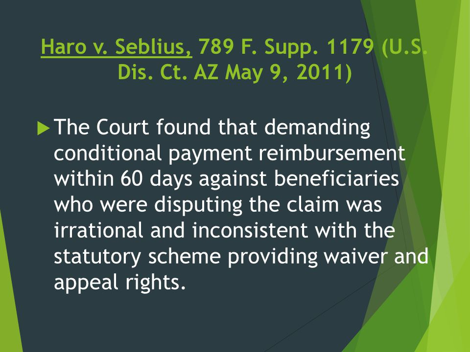 Haro v. Seblius, 789 F. Supp. 1179 (U.S. Dis. Ct. AZ May 9, 2011)