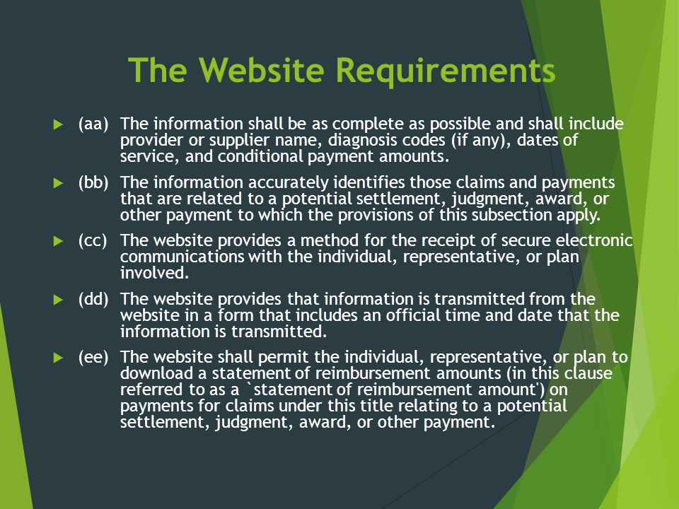 The Website Requirements