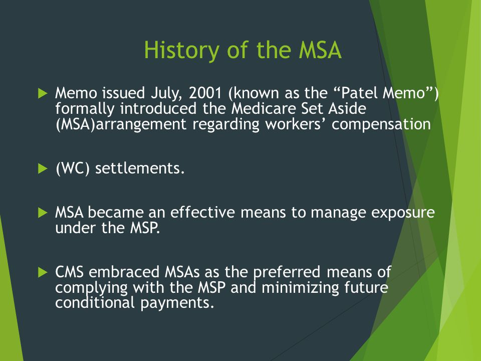 History of the MSA