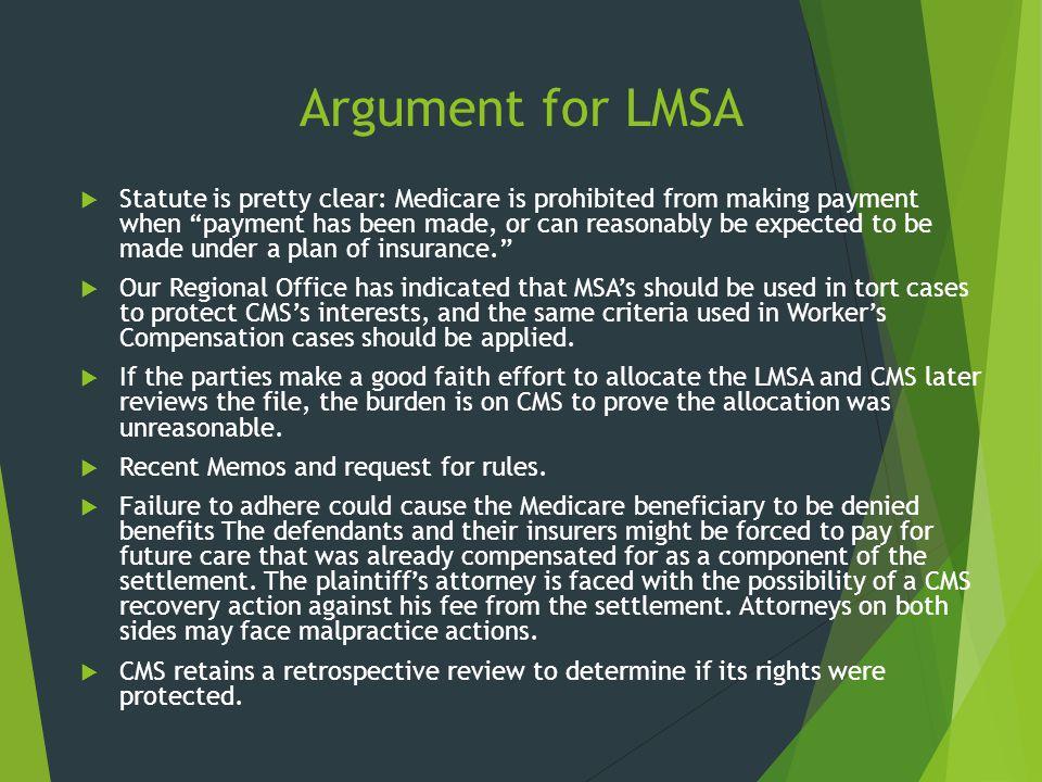 Argument for LMSA