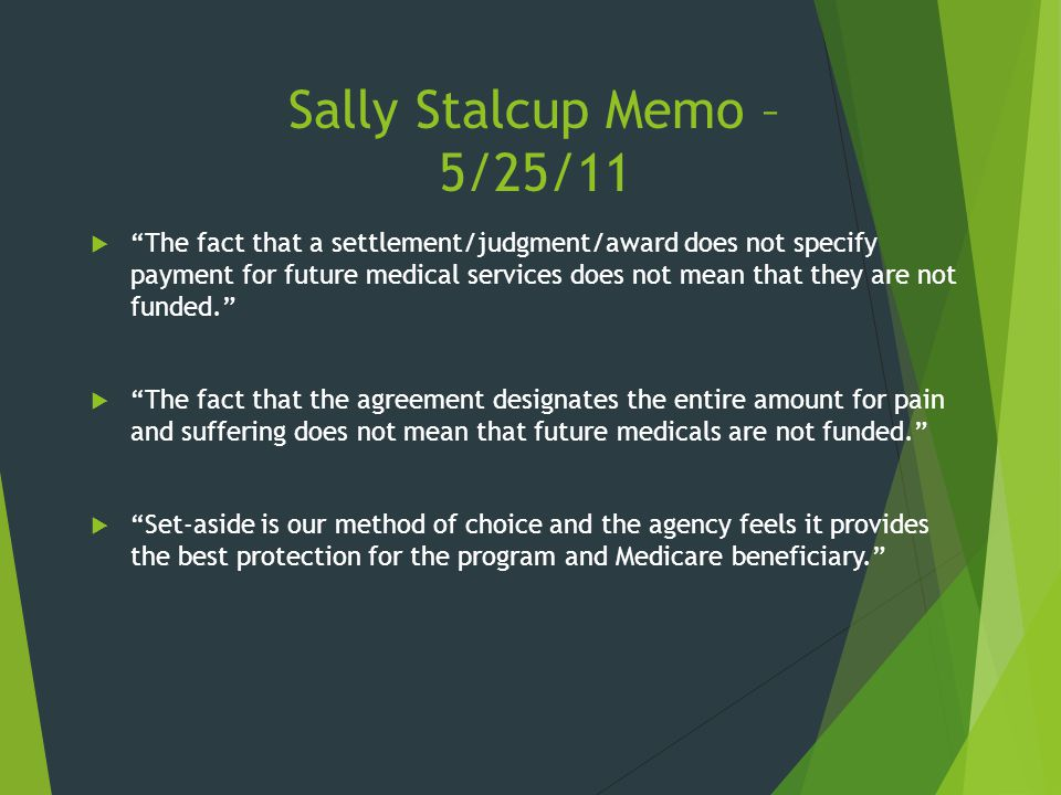 Sally Stalcup Memo – 5/25/11
