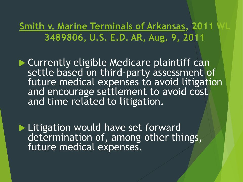 Smith v. Marine Terminals of Arkansas, 2011 WL 3489806, U. S. E. D