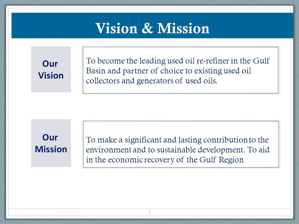 Vision & Mission Our Vision Our Mission